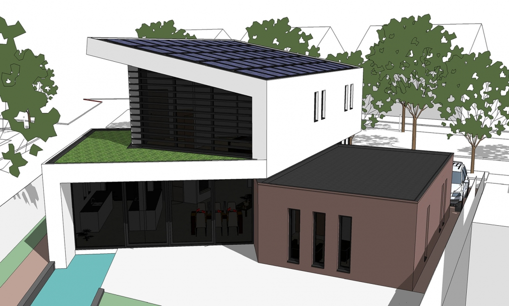 Energieneutrale villa zilverreiger h i a veldman architecten for Huis energieneutraal
