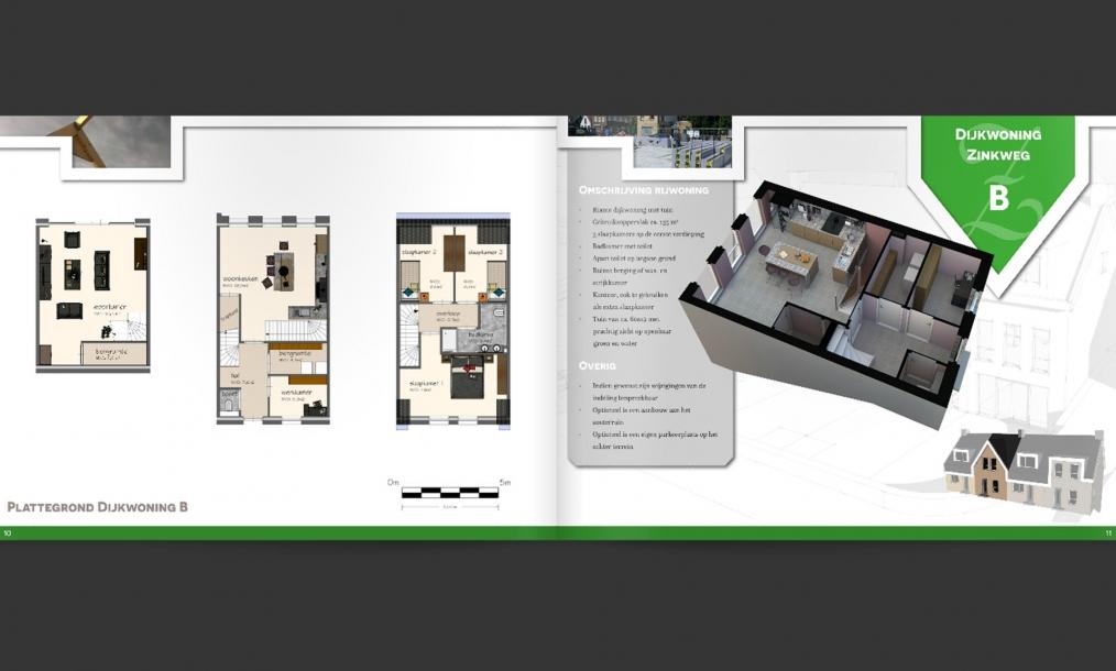 Brochure van energieneutrale dijkwoningen Oud-Beijerland