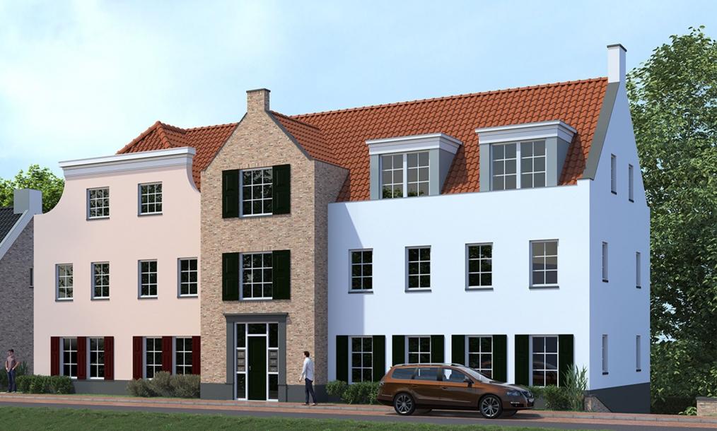 3D impressie van energieneutrale appartementen