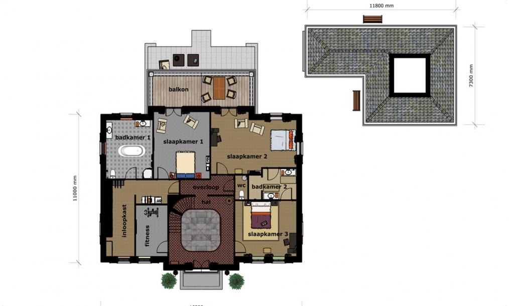 Voorlopig ontwerp eerste verdieping