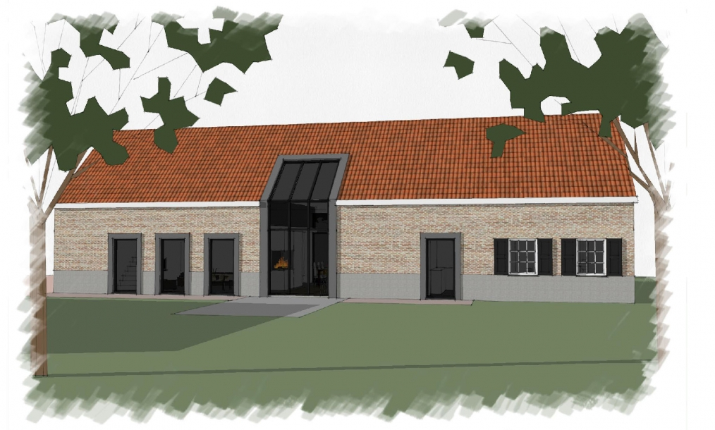 Voormalge boerderij omgebouwd tot klassiek moderne woning met eigentijdse benadering