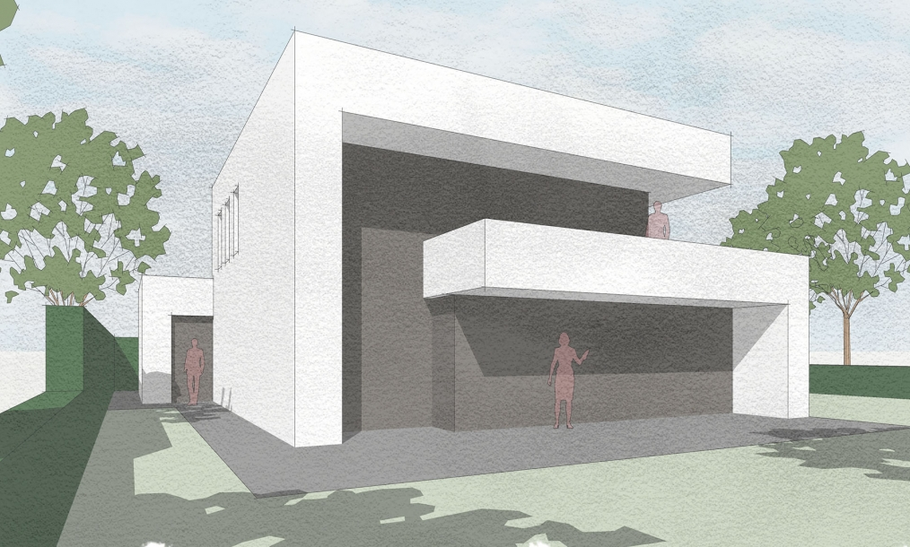 Moderne woning met fraai vormgegeven lijnenspel in de gevels
