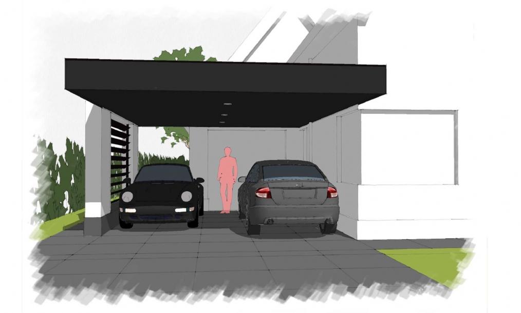 Alternatief voorstel voor een carport passend bij de woning Goesche meer
