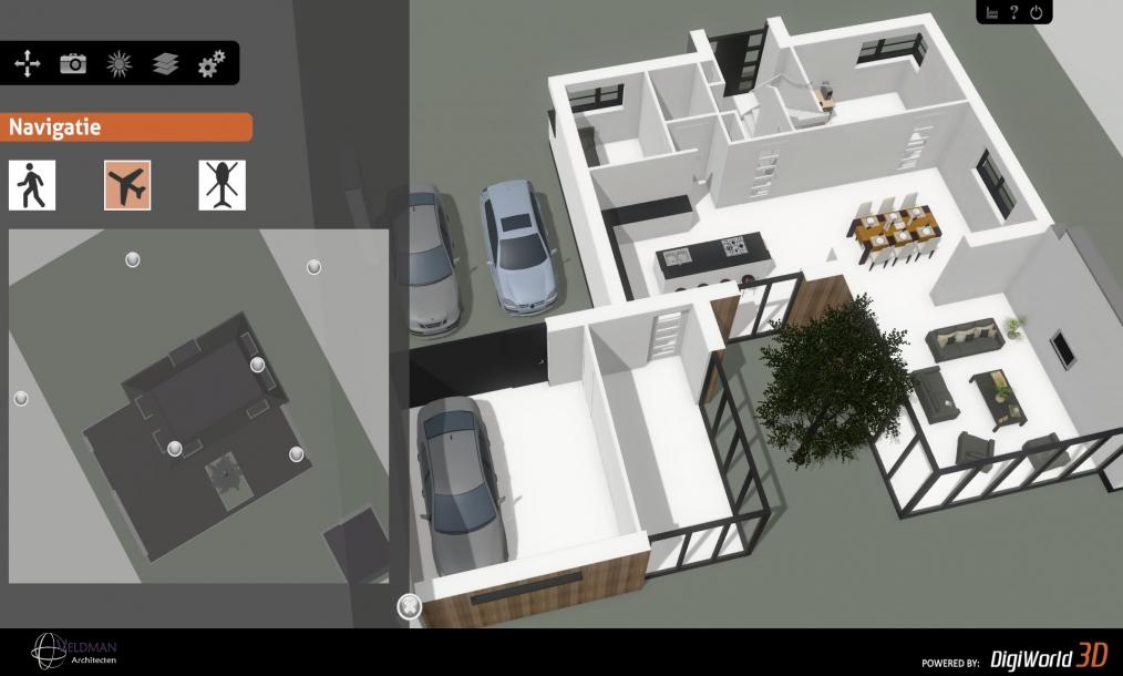 Interactief 3d model om de woning vooraf virtueel te ontdekken