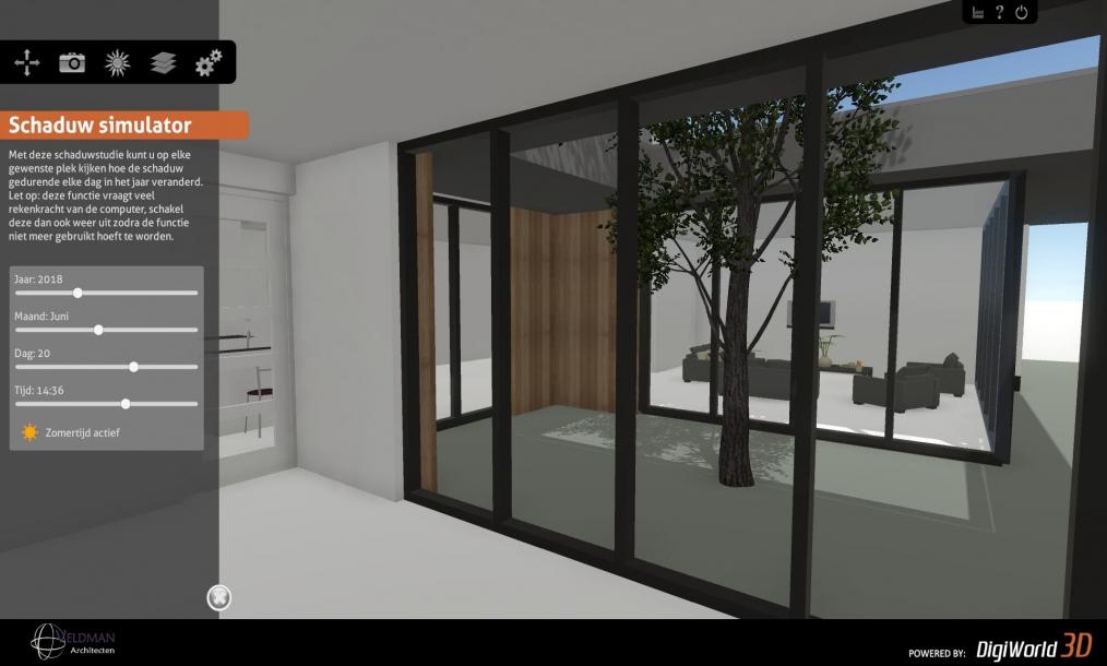 Interactief 3d model van de woning als onderdeel van de ontwerpfase