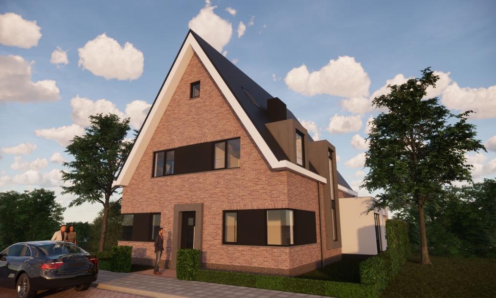 Duurzame ontworpen woning traditioneel gebouwd met de nieuwste technische installaties in het project Singelgebied te Domburg