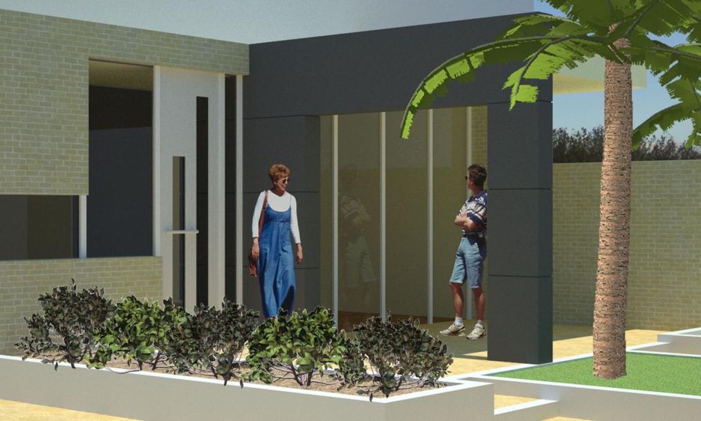 3D impressie aanbouw en uitbreiding keukenen woonkamer