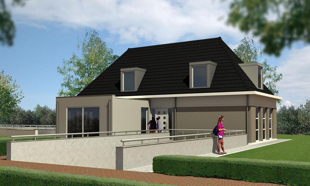 3D impressie villa Esscheweg Strijen