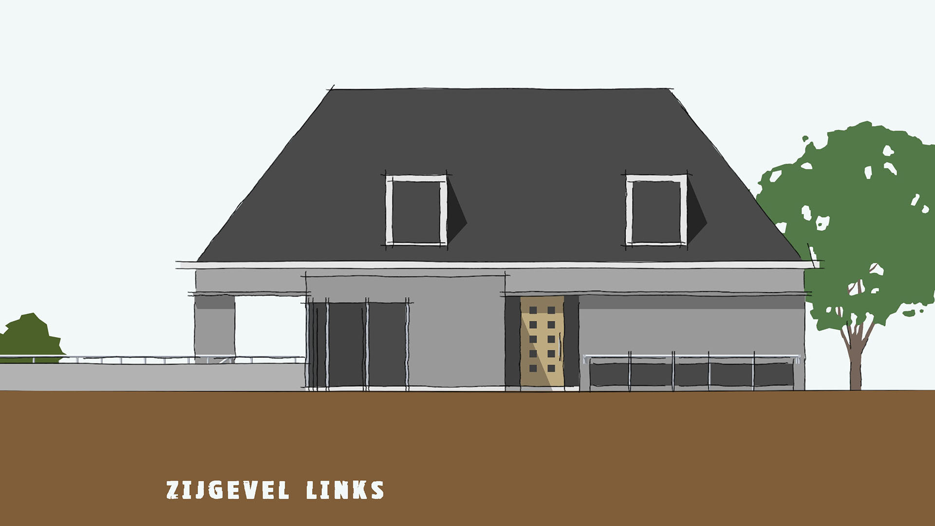 Villa land van esscheweg strijen veldman architecten - Kubieke villa ...